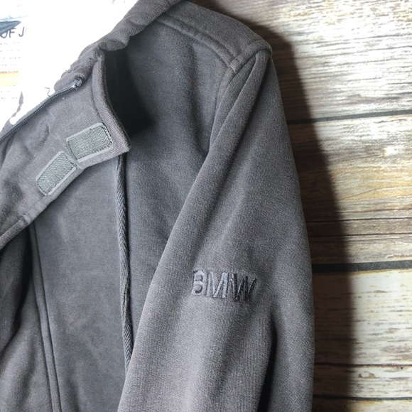 e67eaec15 BMW cotton embroidered jacket hoodie M field coat